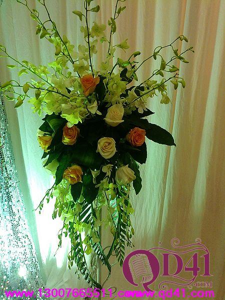 特殊罗马柱以及路引花艺|花艺婚礼|时尚婚典|庆典